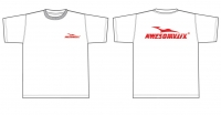 Awesomatix T-shirt white +red print  (S) ― AWESOMATIX
